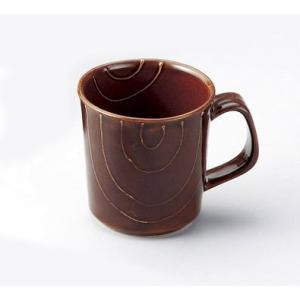 〔波佐見焼 マグカップ〕 キャンディーブラウン(ライン) マグカップ小|itibei