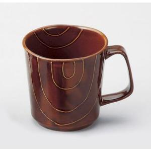 〔波佐見焼 マグカップ〕 キャンディーブラウン(ライン) マグカップ大|itibei