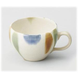 〔波佐見焼 マグカップ〕 粉引三彩 スープカップ 5個組|itibei