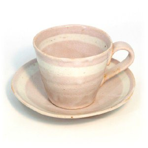 〔美濃焼 コーヒー碗皿〕 雅−SHINO 碗皿 (P)|itibei