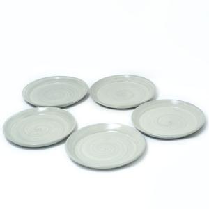 〔益子焼 和皿・洋皿〕 和田窯 刷毛目 叩き皿7寸 5個組|itibei