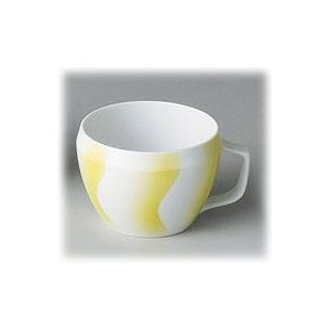 〔有田焼 マグカップ〕 CUE YellowWave マグカップ(Y) 3個組 itibei