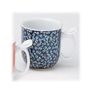 〔有田焼 マグカップ〕 華の里 マグカップ(青)|itibei