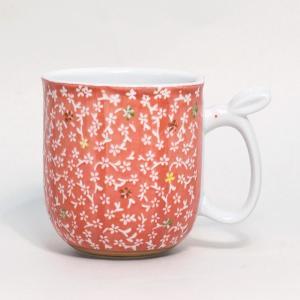 〔有田焼 マグカップ〕 華の里 マグカップ(赤)|itibei