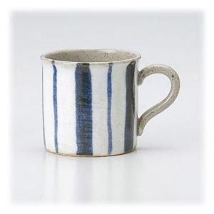 〔萬古焼 マグカップ〕 藍十草 軽々マグ|itibei
