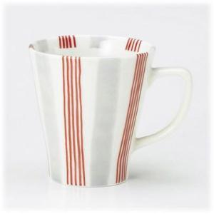 〔有田焼 マグカップ〕 いなせ・赤 ファミリーマグ(大) 3個組|itibei