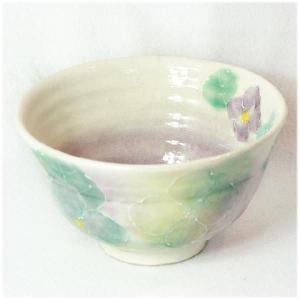 〔瀬戸焼 飯碗〕 一珍花紋 お茶漬碗(青) 3個組|itibei