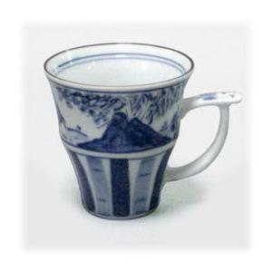 〔有田焼 マグカップ〕 十草山水 マグカップ 5個組|itibei