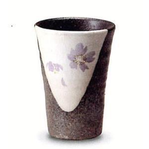〔信楽焼 フリーカップ〕 紫桜フリーカップ|itibei