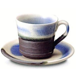 〔信楽焼 コーヒーカップ・ソーサー〕 ブルーベリーコーヒー碗皿|itibei