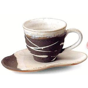 〔信楽焼 コーヒーカップ・ソーサー〕 潮騒(黒)コーヒー碗皿|itibei