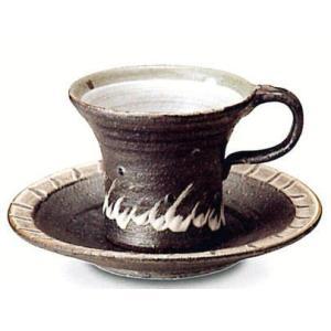 〔信楽焼 コーヒーカップ・ソーサー〕 樹氷コーヒー碗皿|itibei