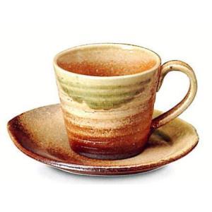 〔信楽焼 コーヒーカップ・ソーサー〕 古信楽コーヒー碗皿|itibei