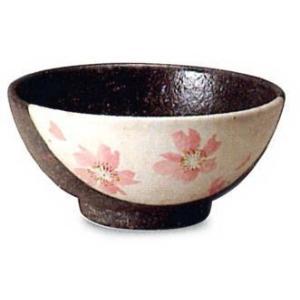 〔信楽焼 飯椀・茶漬碗〕 桃桜飯碗|itibei