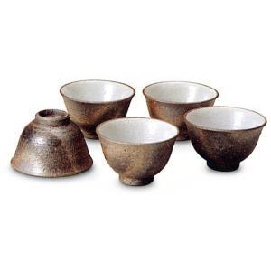 〔信楽焼 急須・ポット〕 いぶし煎茶碗(5個L)|itibei
