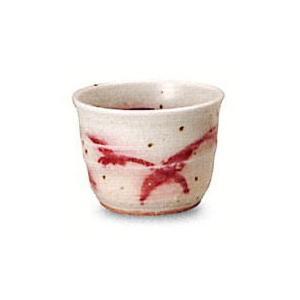〔信楽焼 酒器〕 紅彩ぐい呑|itibei