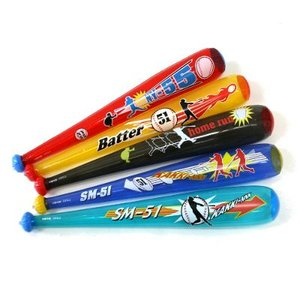〔ビニール玩具〕 ベースボールバットS  (5種アソート) 25入り itibei