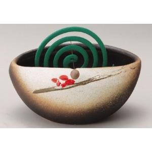 〔信楽焼 蚊遣り花器〕 赤絵蚊やり花器|itibei