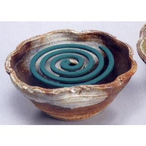 〔信楽焼 蚊遣り花器〕 白釉蚊やり花器|itibei