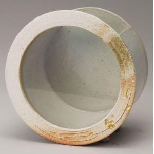 〔信楽焼 水槽〕 白金彩丸水槽|itibei