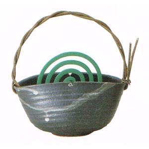 〔蚊遣り器〕 黒釉つる付蚊やり器(器具付)|itibei