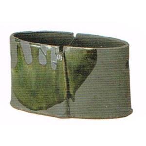 〔蚊遣り器〕 深緑流し蚊やり器(器具付)|itibei