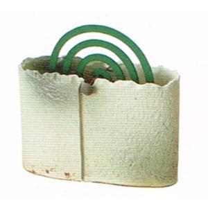 〔蚊遣り器〕 白釉蚊やり器(器具付)|itibei