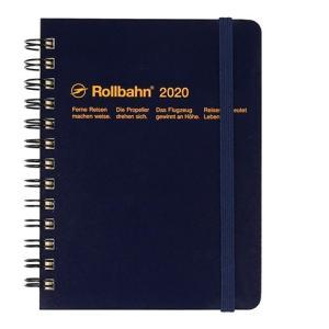 デルフォニックス 2020年 手帳 ロルバーン ダイアリー M (マンスリー) ダークブルー