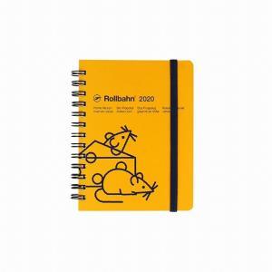 デルフォニックス 2020年 手帳 ロルバーン ダイアリー マウス M (マンスリー) イエロー