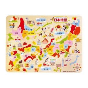 デビカ 木製知育パズル 日本地図 113004