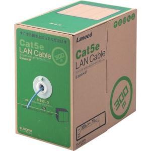 ELECOM RoHS対応LANケーブル CAT5E 300m ブルー 簡易パッケージ LD-CT2/BU300/RS