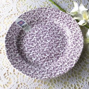 バーレイ プラム フェリシティ プレート 19cm BURLEIGH 皿 花柄  イギリス 食器 陶...