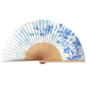 女性用扇子/桔梗ブルー|itotsune
