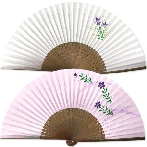 女性用紙扇子/桔梗 紫|itotsune