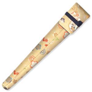 舞扇用扇子袋 金襴 大桜に鹿の子/黒K1|itotsune