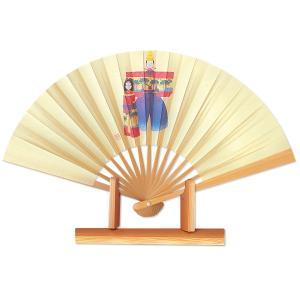 ひな祭り扇子★飾り茶扇台付きセット/白竹たち雛|itotsune