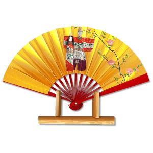 ひな祭り扇子★飾り茶扇台付きセット/朱塗りたち雛|itotsune