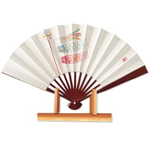 節句扇子★鯉のぼり/飾り茶扇台付きセット|itotsune