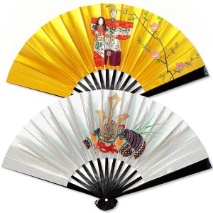 【3月飾り】兜・お雛様 茶扇飾り|itotsune