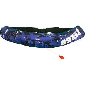 ラムセス 自動膨張式ライフジャケット LJ-1866 自動膨張式 LAMSES 【桜マーク Aタイプ】ブルーカモ|itoturi