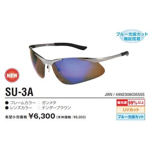視泉堂 ブルーバリアシリーズ スペシウムカット 偏光サングラス ブルーライトカットSU-3A itoturi
