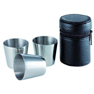Belmont/ベルモント/ステンレスカップ3P革ケース付/BM-242 itoturi