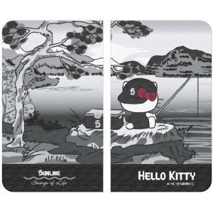 サンリオ×サンラインコラボ ハローキティ Hello Kitty  手帳型スマホケース/ 浮世絵 (貼付タイプ)SKT-1982 スマートフォンケース 5月発売予定|itoturi