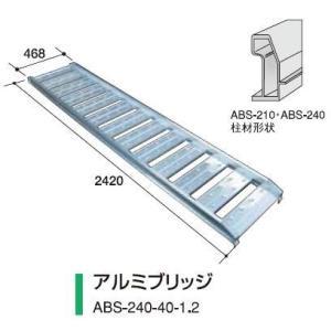 アルミス アルミブリッジABS-240-40-1.2(2本組)|itounouki