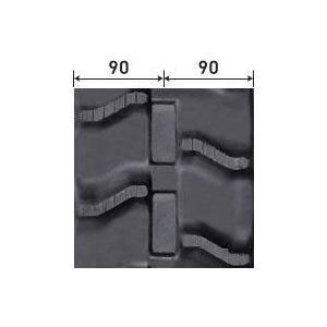 ハーベスタ用ゴムクローラ 180×84×25(180*84*25) パターン【V】お得な2本セット!≪送料無料!代引き不可≫ICH1825N8X2 ピッチ84|itounouki|02