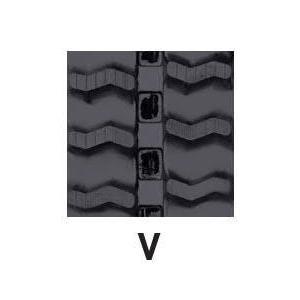 運搬車・作業機用ゴムクローラ 180×60×37(180*60*37) パターン【V】≪送料無料!代引き不可≫ICH2005SK ピッチ60|itounouki|02