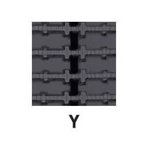 運搬車・作業機用ゴムクローラ 300×72×46(300*72*46) パターン【Y】お得な2本セット!!≪送料無料!代引き不可≫ICH3046N7X2 ピッチ72|itounouki|02