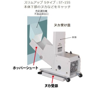 薄型昇降機 〈玄米・屑米用〉:スリムアップ ST-15S色彩選別機対応機|itounouki|02