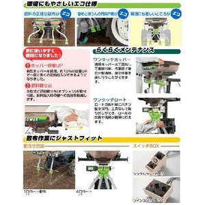肥料散布機UH-110F-F1ヤンマーF,AE型式を確かめて下さい。 itounouki 02