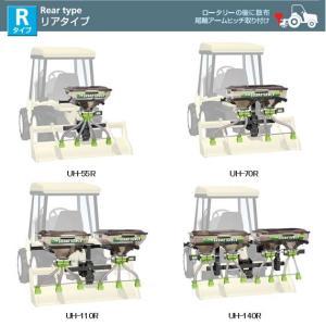 肥料散布機UH-140Rリア取付タイプ(後尾輪アームチッチ取付)|itounouki
